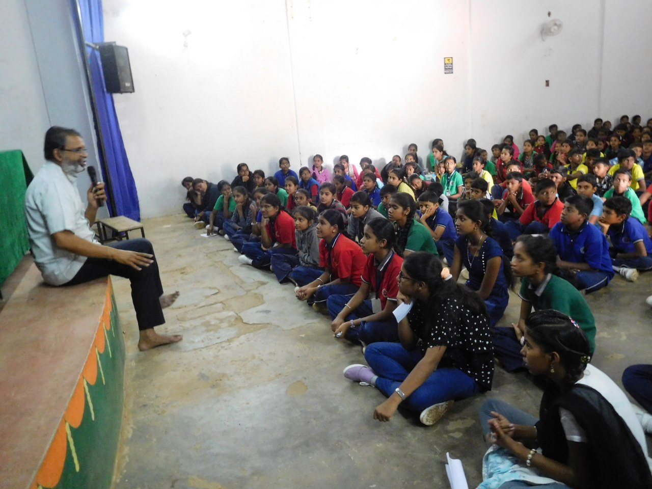 The inspirational event was conducted for the benefit of students to help them face challenges in life.
