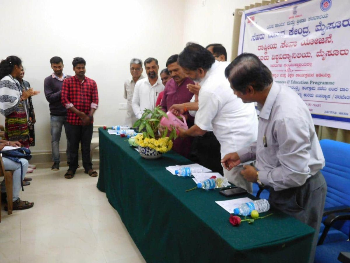 Yogatma Srihari inaugurated the training programme at NSS BHAVAN