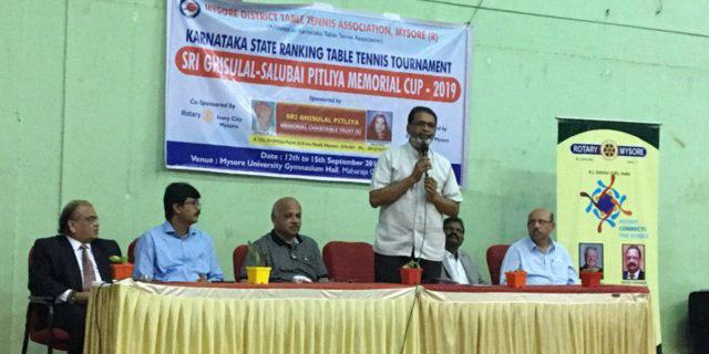 Inauguration of Karnataka State Ranking Table Tennis Tournament