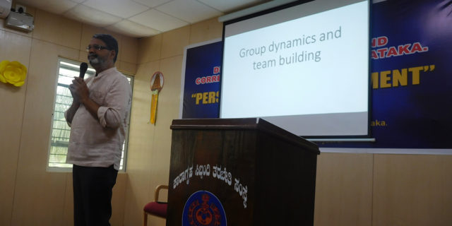 Group dynamics and team building for prison staff at Central Jail Mysore